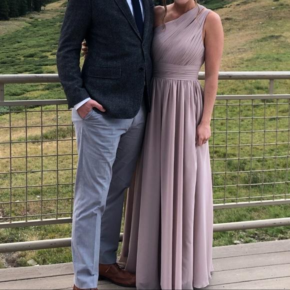 ffceef1e11 Azazie Molly Bridesmaids Dress in Taupe